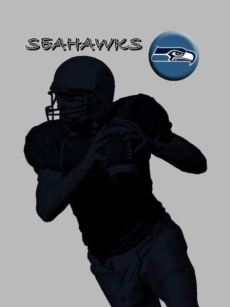 Digital Art - Seattle Seahawks Football by David Dehner