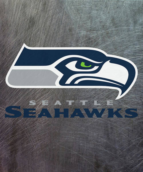 Mixed Media - Seattle Seahawks On An Abraded Steel Texture by Movie Poster Prints