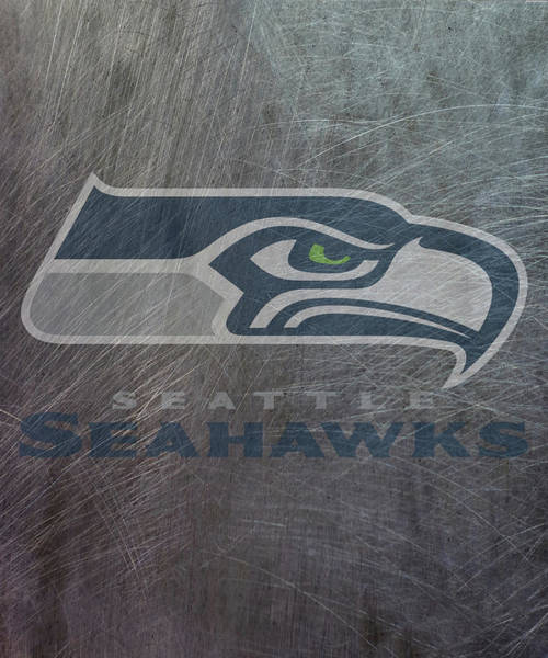 Mixed Media - Seattle Seahawks Translucent Steel by Movie Poster Prints