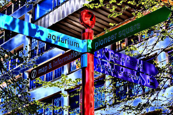 Pikes Place Wall Art - Photograph - Seattle Sights by David Patterson