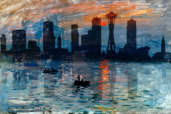 Photograph - Seattle Skyline 8 by Andrew Fare