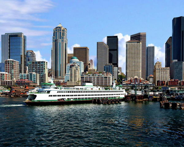 Photograph - Seattle Skyline by Anthony Dezenzio