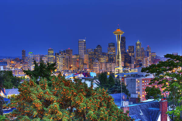 Wall Art - Photograph - Seattle Skyline In The Fall by Shawn Everhart