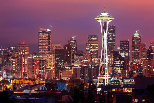Rights-managed Wall Art - Photograph - Seattle Skyline by Todd Klassy