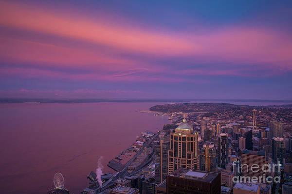 Wall Art - Photograph - Seattle Sunrise Skies by Mike Reid