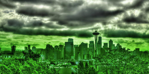 Photograph - Seattle - The Emerald City Panorama by David Patterson
