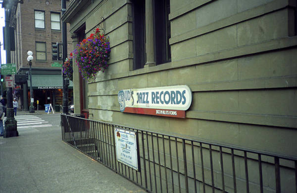 Photograph - Seattle - Underground Record Store, 2007 by Frank Romeo