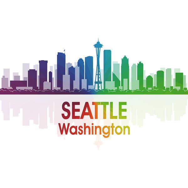 Digital Art - Seattle Wa 1 Squared by Angelina Tamez