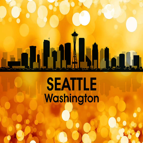 Digital Art - Seattle Wa 3 Squared by Angelina Tamez