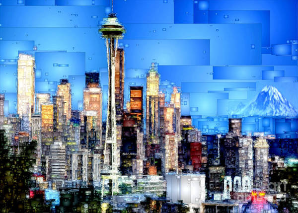 Digital Art - Seattle, Washington by Rafael Salazar