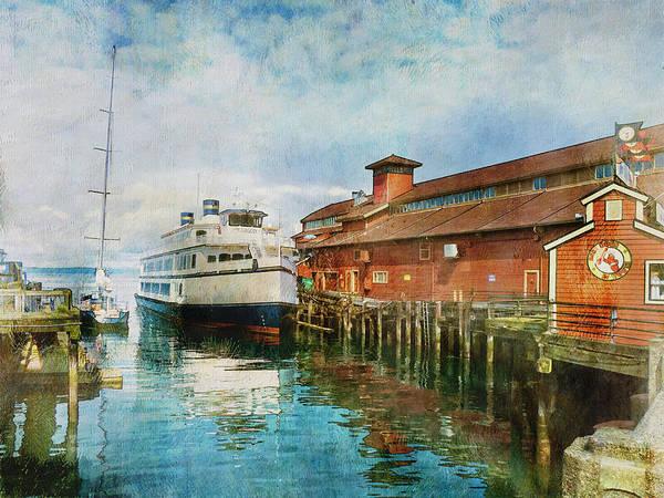 Elliott Digital Art - Seattle Waterfront by Claude LeTien
