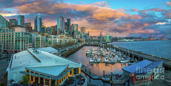 Wall Art - Photograph - Seattle Waterfront Panorama by Inge Johnsson