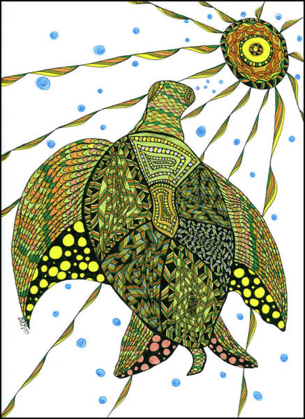 Drawing - Seaturtle  by Barbara McConoughey