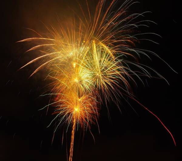 Photograph - Seaworld Fireworks 2 by Phyllis Spoor