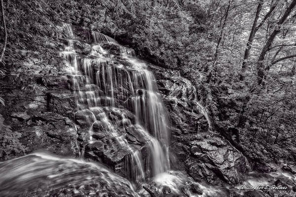 Wall Art - Photograph - Secluded Falls - Bw by Christopher Holmes