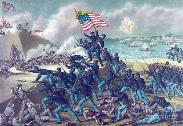 The Southern Company Photograph - Second Battle Of Fort Wagner, 1863 by Science Source