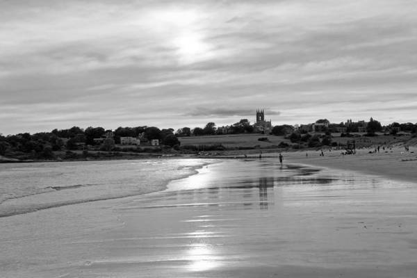 Photograph - Second Beach Newport Ri Black And White by Toby McGuire