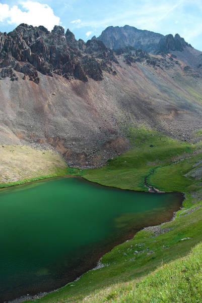 Photograph - Second Blue Lake With Mount Sneffels by Cascade Colors