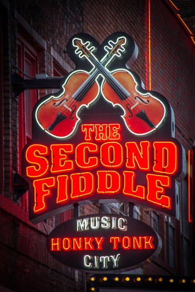 Honky Tonk Photograph - Second Fiddle Nashville by Mike Burgquist