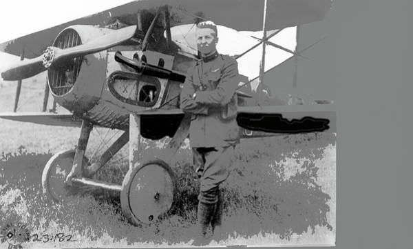 Photograph - Second Lieutenant Frank Luke With His  Spad S.xiii On September 19, 1918 Somewhere In France-2016  by David Lee Guss