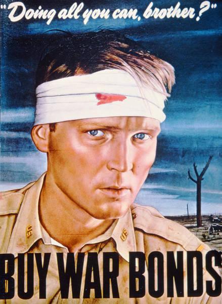 Recruitment Painting - Second World War Propaganda Poster by American School