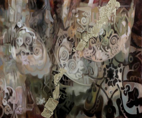Curtain Wall Art - Painting - Secondo Arabesco by Guido Borelli