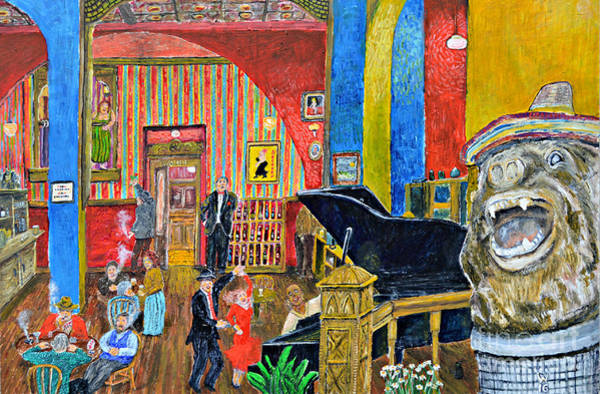 Piano Bar Painting - Secouer by Richard Wandell