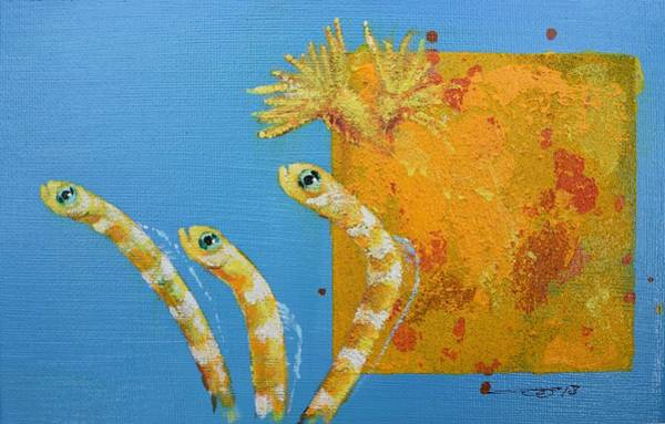 Painting - Secret Garden Eels Detail by Eduard Meinema