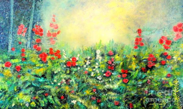 Painting - Secret Garden 2 - 150x90 Cm by Dagmar Helbig