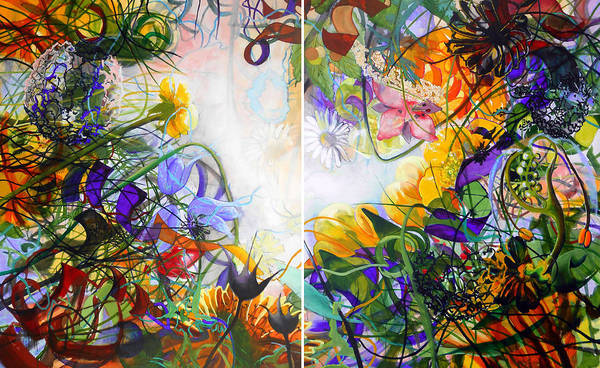 Protein Painting - Secret Garden by Georg Douglas