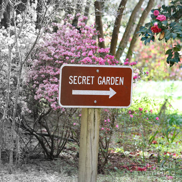 Wall Art - Photograph - Secret Garden Sign by Carol Groenen
