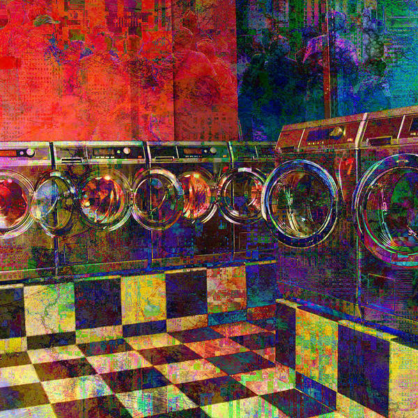 Digital Art - Secret Life Of Laundromats by Barbara Berney