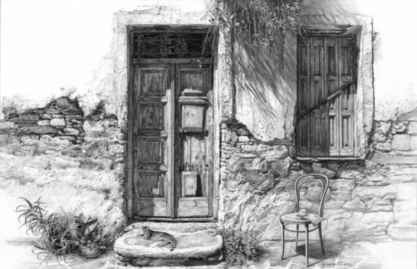 Drawing - Secret Of The Closed Doors by Sergey Gusarin