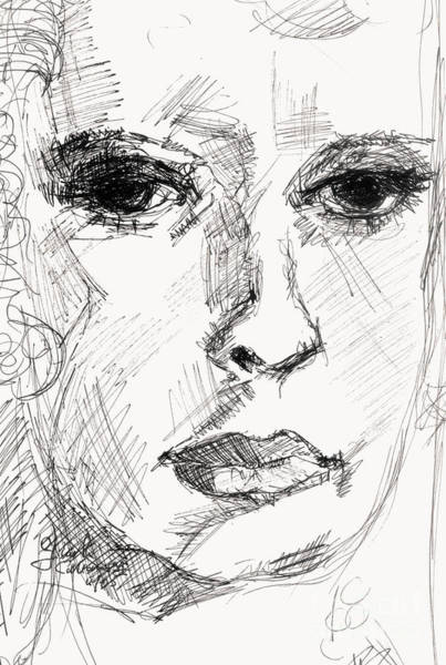 Drawing - Secret Thoughts by Ginette Callaway