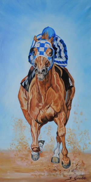 Race Horse Wall Art - Painting - Secretariat by Jana Goode