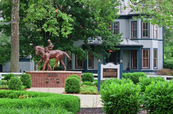 Photograph - Secretariat Statue At The Kentucky Horse Park by Jill Lang