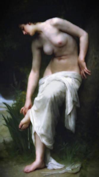 She Mixed Media - Secretly She Bathes At Night by Georgiana Romanovna