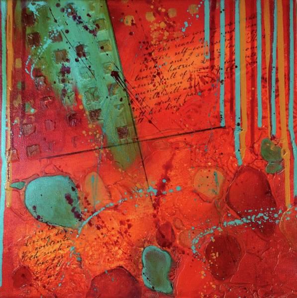 Bright Colours Mixed Media - Secrets Squared Ll by KJ McLennan