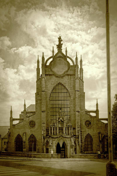 Photograph - Sedlec Cathedral Sepia by Sharon Popek