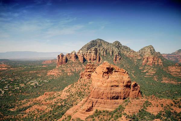 Wall Art - Photograph - Sedona Arizona Aerial View  by Carol Highsmith
