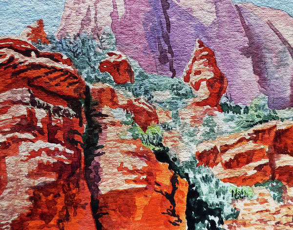 Sedona Painting - Sedona Arizona Rocky Canyon by Irina Sztukowski