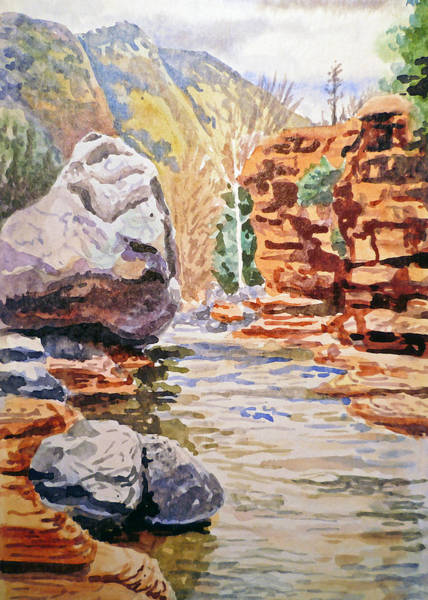 Sedona Painting - Sedona Arizona Slide Creek by Irina Sztukowski