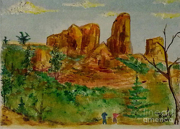Painting - Sedona, Az. #1 by Reed Novotny