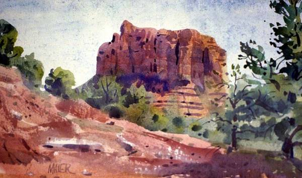 Butte Painting - Sedona Butte by Donald Maier