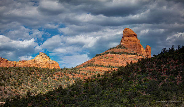 Photograph - Sedona Cloudy Day by Ross Henton