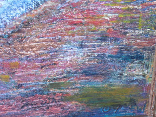 Sedona Mesa Strata  Art Print by Anne-Elizabeth Whiteway