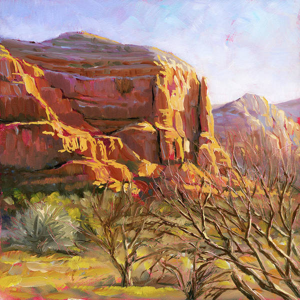 Painting - Sedona Morning by Lesley Spanos