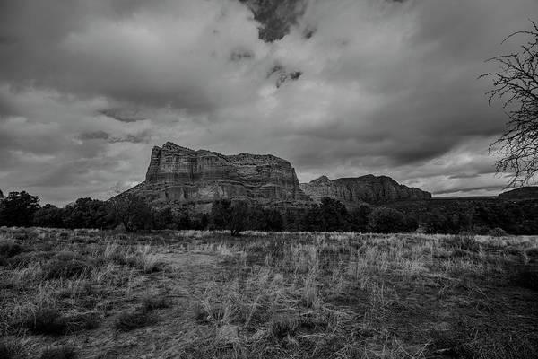 Tombstone Arizona Photograph - Sedona Red Rock Country Arizona Bnw 0177 by David Haskett II
