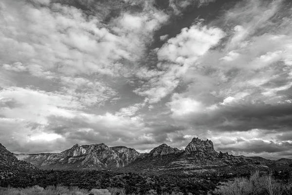 Tombstone Arizona Photograph - Sedona Red Rock Country Bnw Arizona Landscape 0986 by David Haskett II