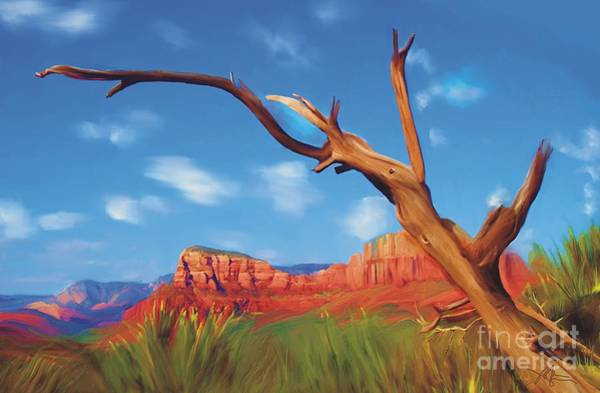 Red Rock Painting - Sedona Red Rock Country by Bob Salo